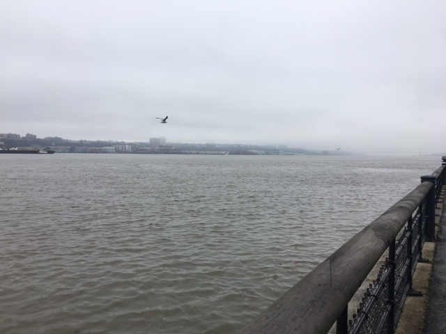Even misty spring days along the Hudson River are beautiful.