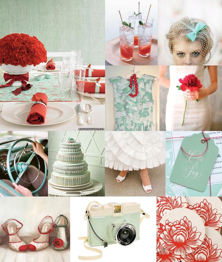retro-wedding-ideas-vintage-red-and-blue