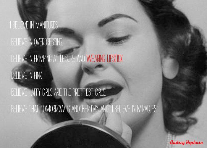 Audrey Hepburn Quote | Audrey Hepburn Quotes Lipstick Keltische Spruche Weisheiten Zitate