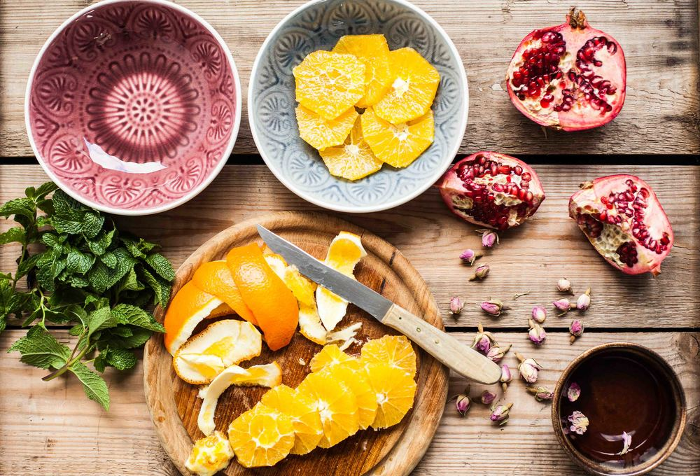 Pomegranate and Orange Salad - www.madelinelu.com