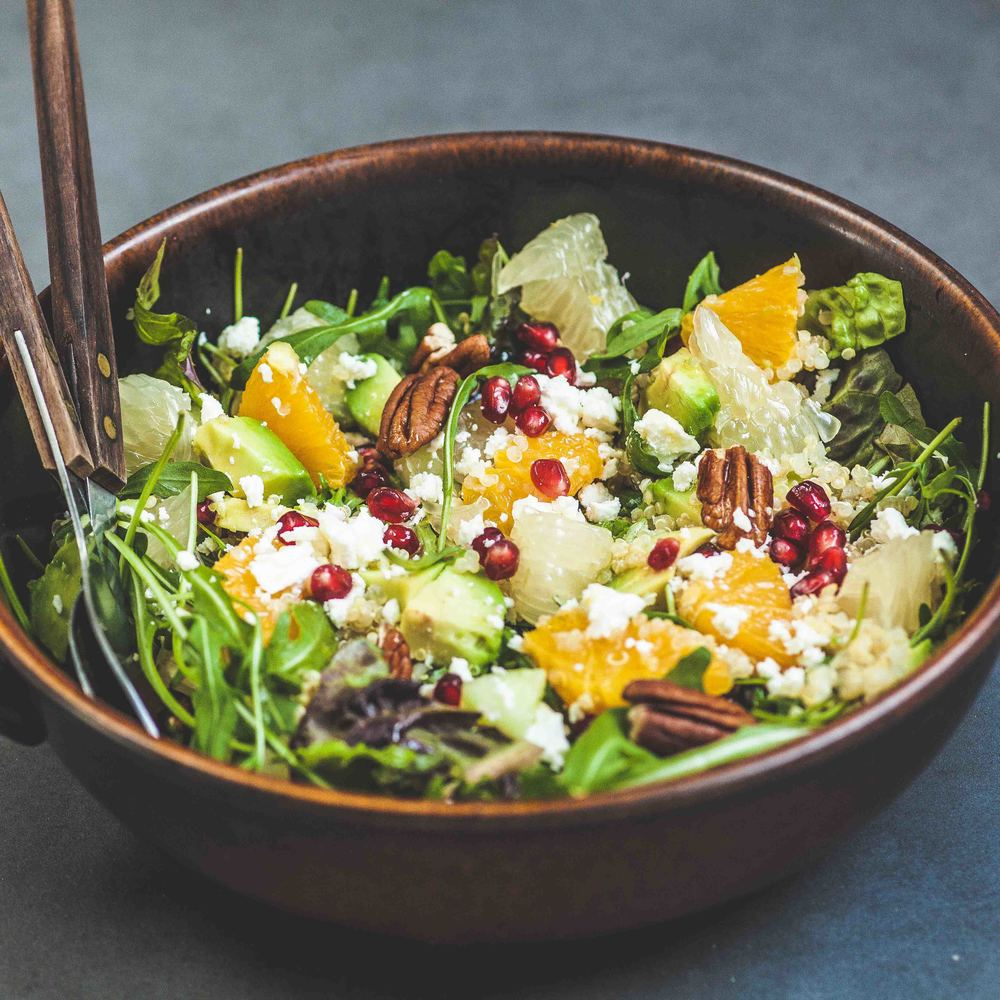 Pomelo, Rocket, Avocado and Quinoa Salad - www.madelinelu.com