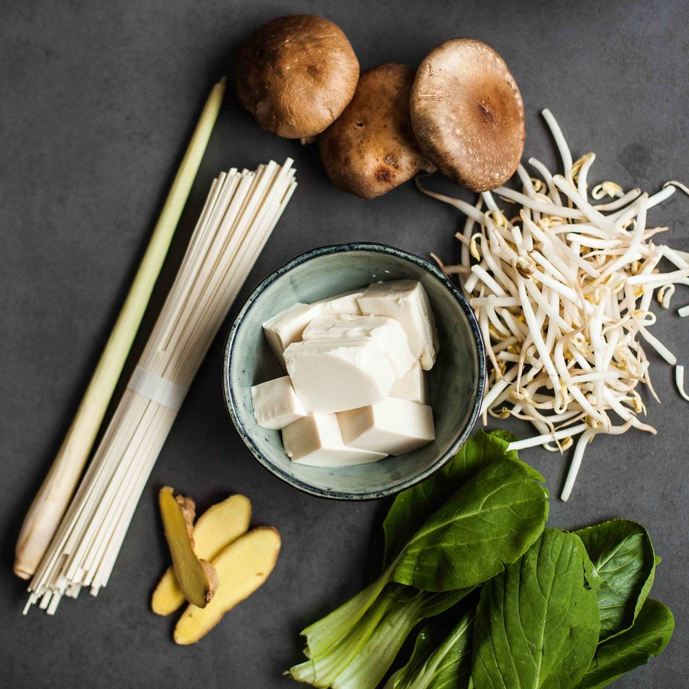 Noodle Soup with Lemongrass and Ginger