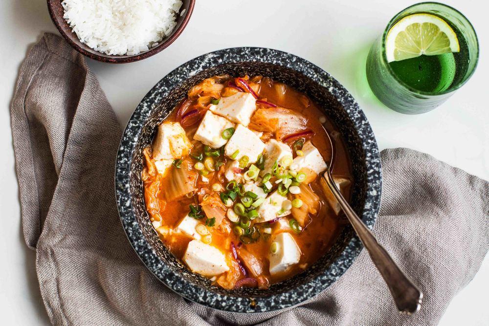 ... kimchi tofu summer rolls kimchi soup with tofu and spinach korean stew