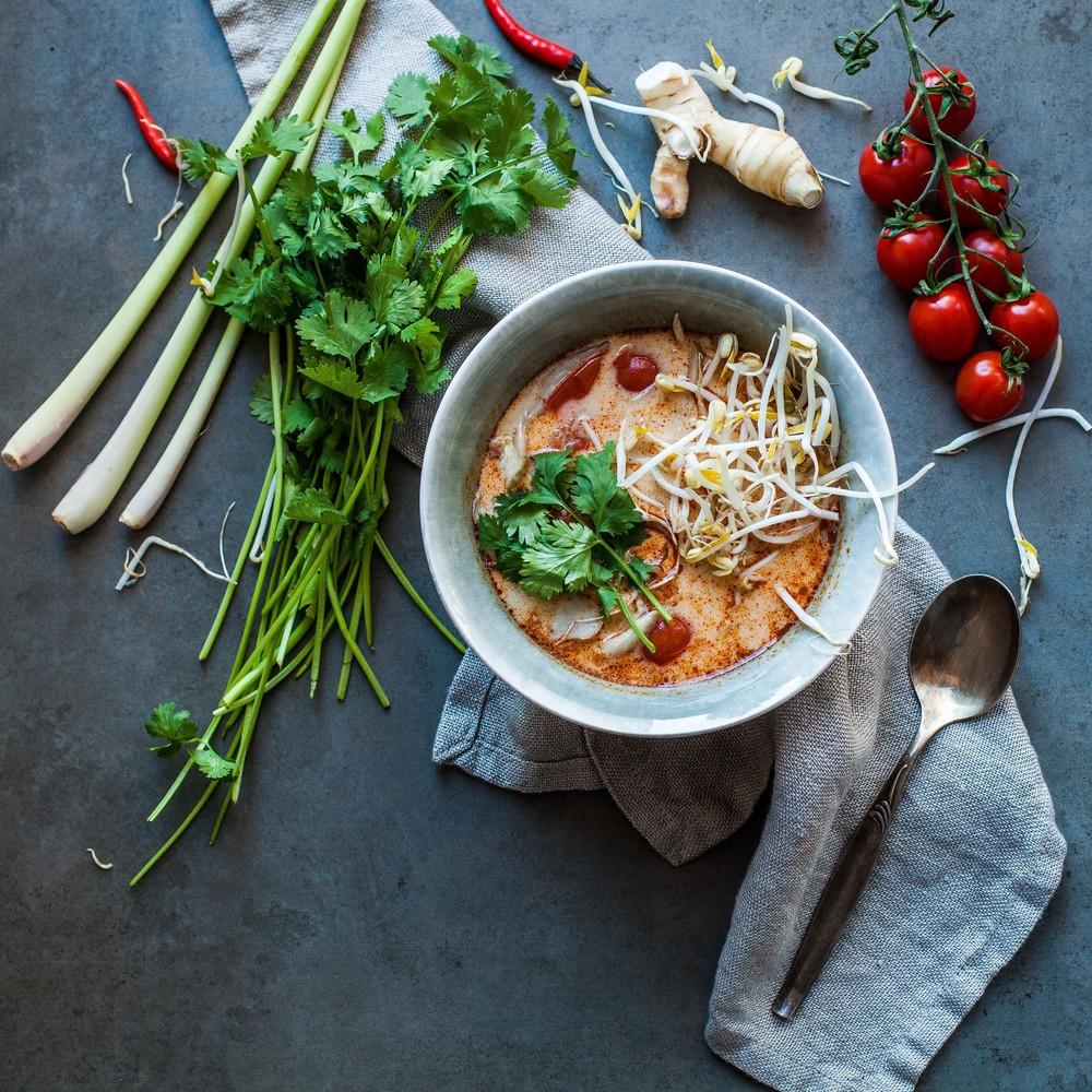 Thai Coconut Soup - www.Madelinelu.com