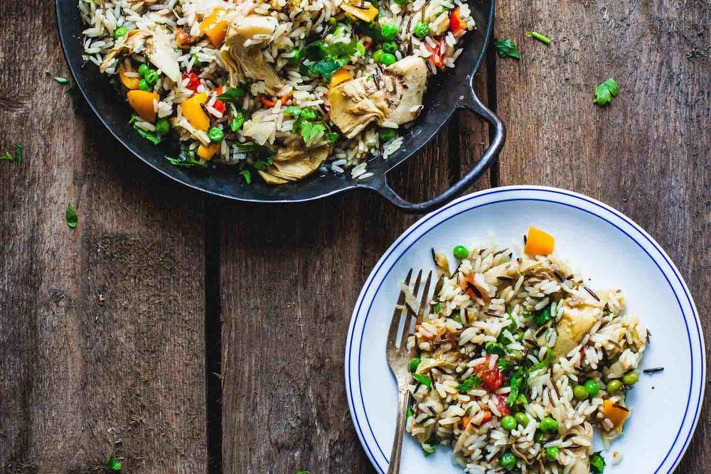 Vegan Paella with Wild Rice - www.madelinelu.com