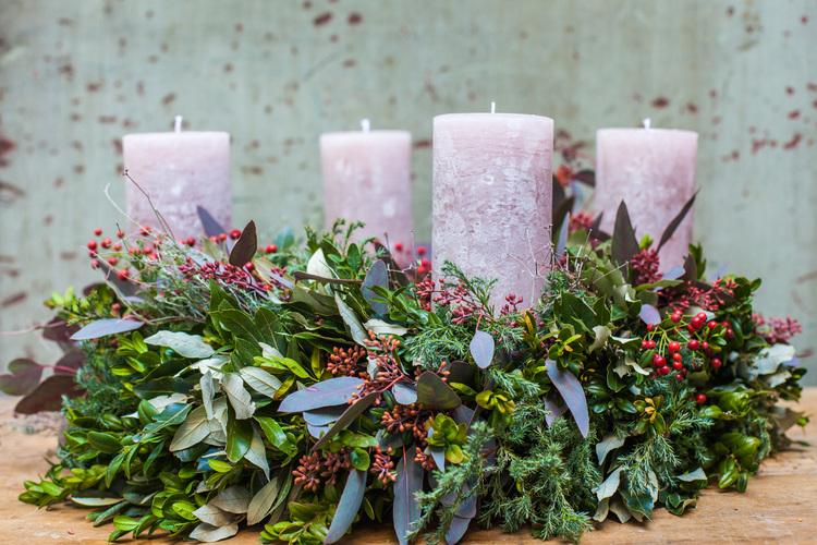Diy Advent Wreath With Merz Und Benzing Madeline Lu