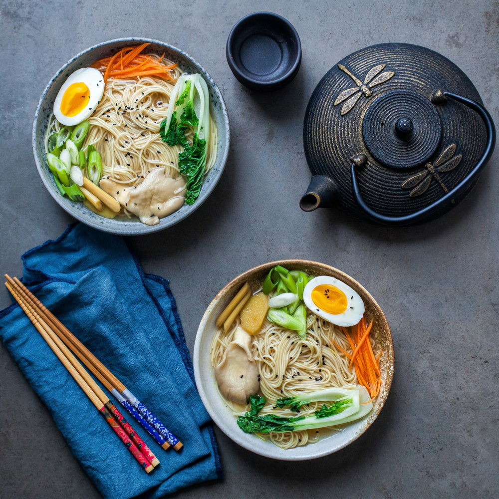 Ginger and Lemongrass Noodle Soup - www.madelinelu.com