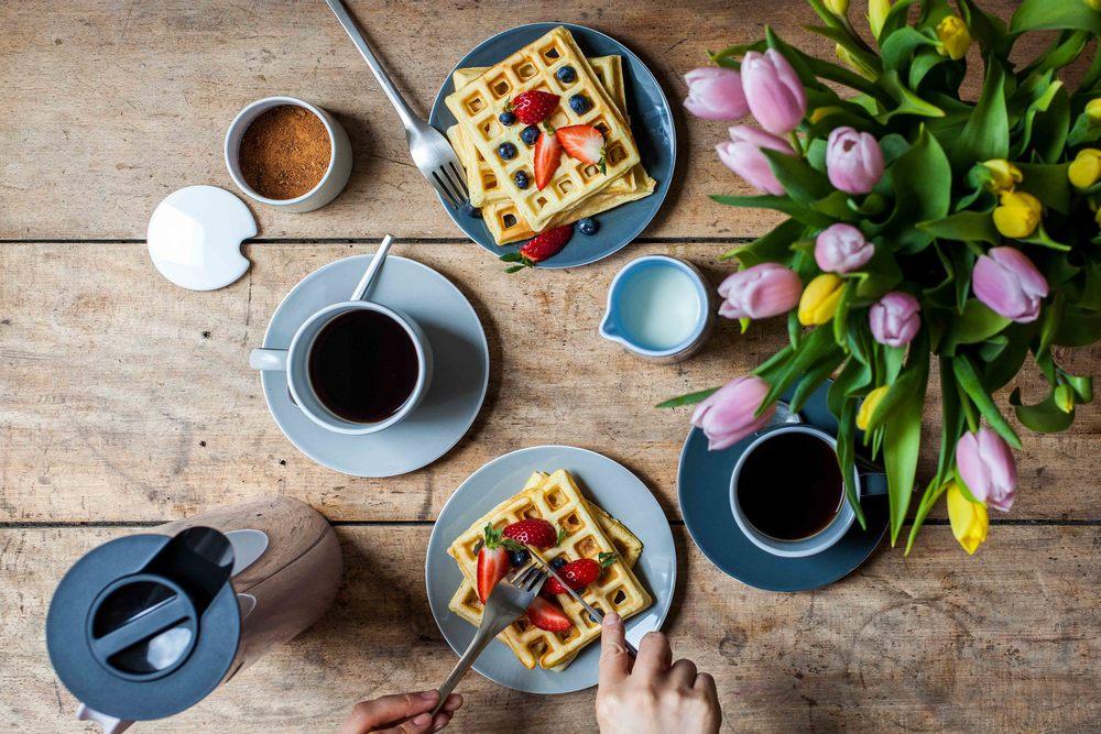 Sunday Belgian Waffles - www.madelinelu.com