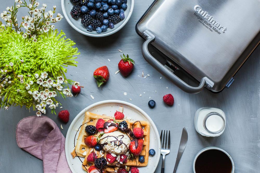 Coconut Waffles made by Cuisinart - www.madelinelu.com