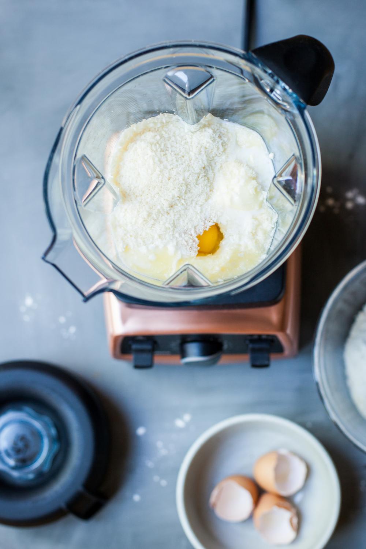 Coconut Waffles made with Vitamix - www.madelinelu.com