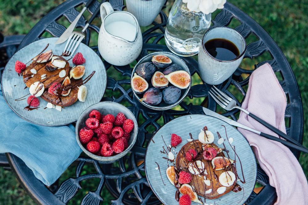 Vegan Gluten-free Chocolate Protein Pancakes - Madeline Lu