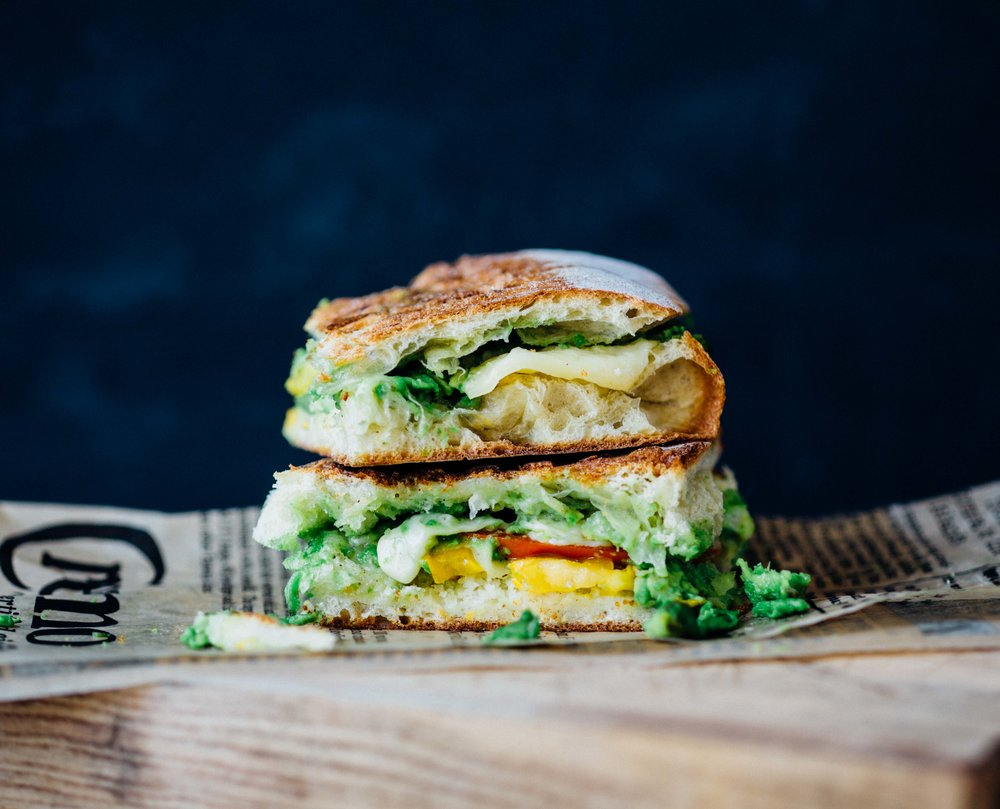 Heirloom Tomato, Avocado and Le Gruyere Panini