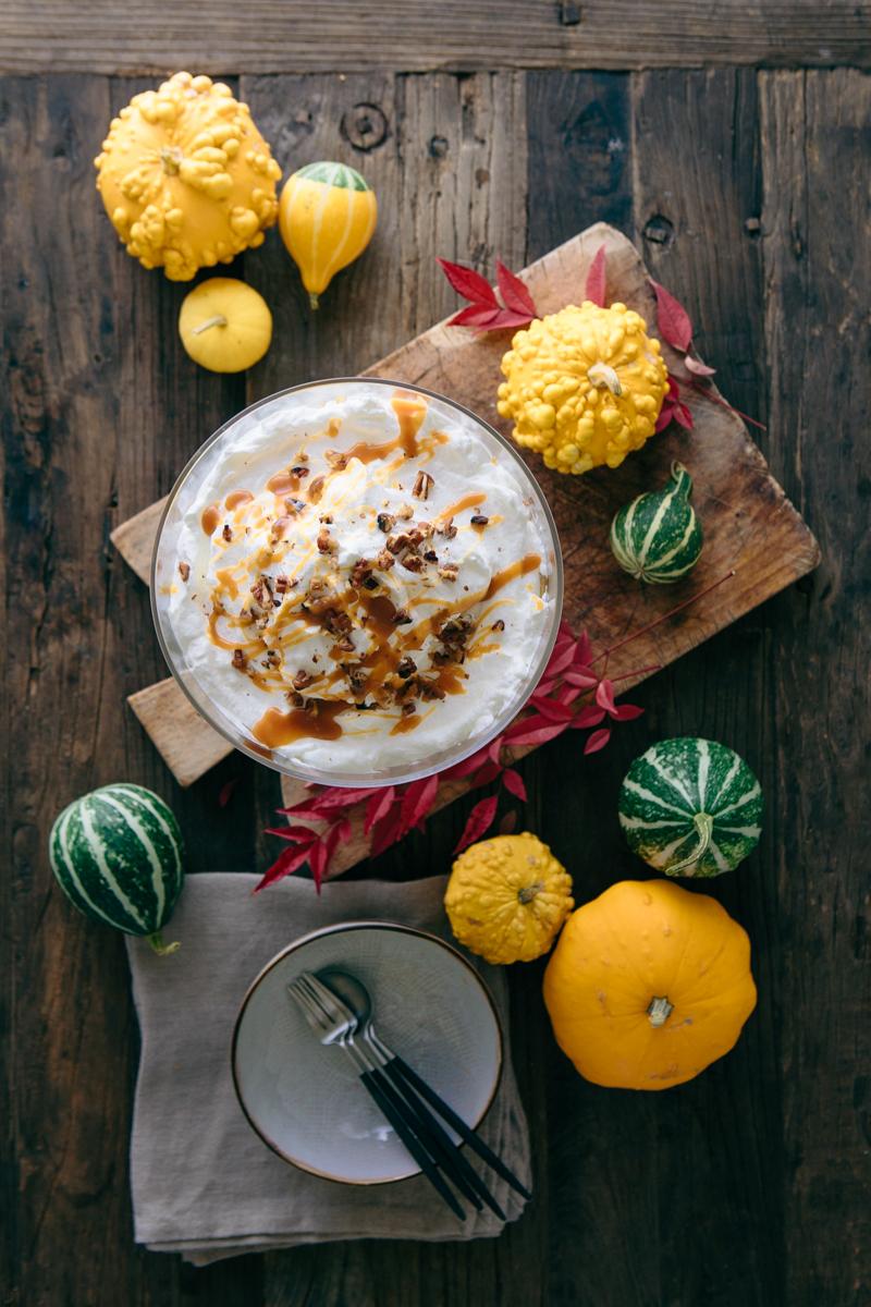Pumpkin Spice Trifle with Baileys - www.madelinelu.com