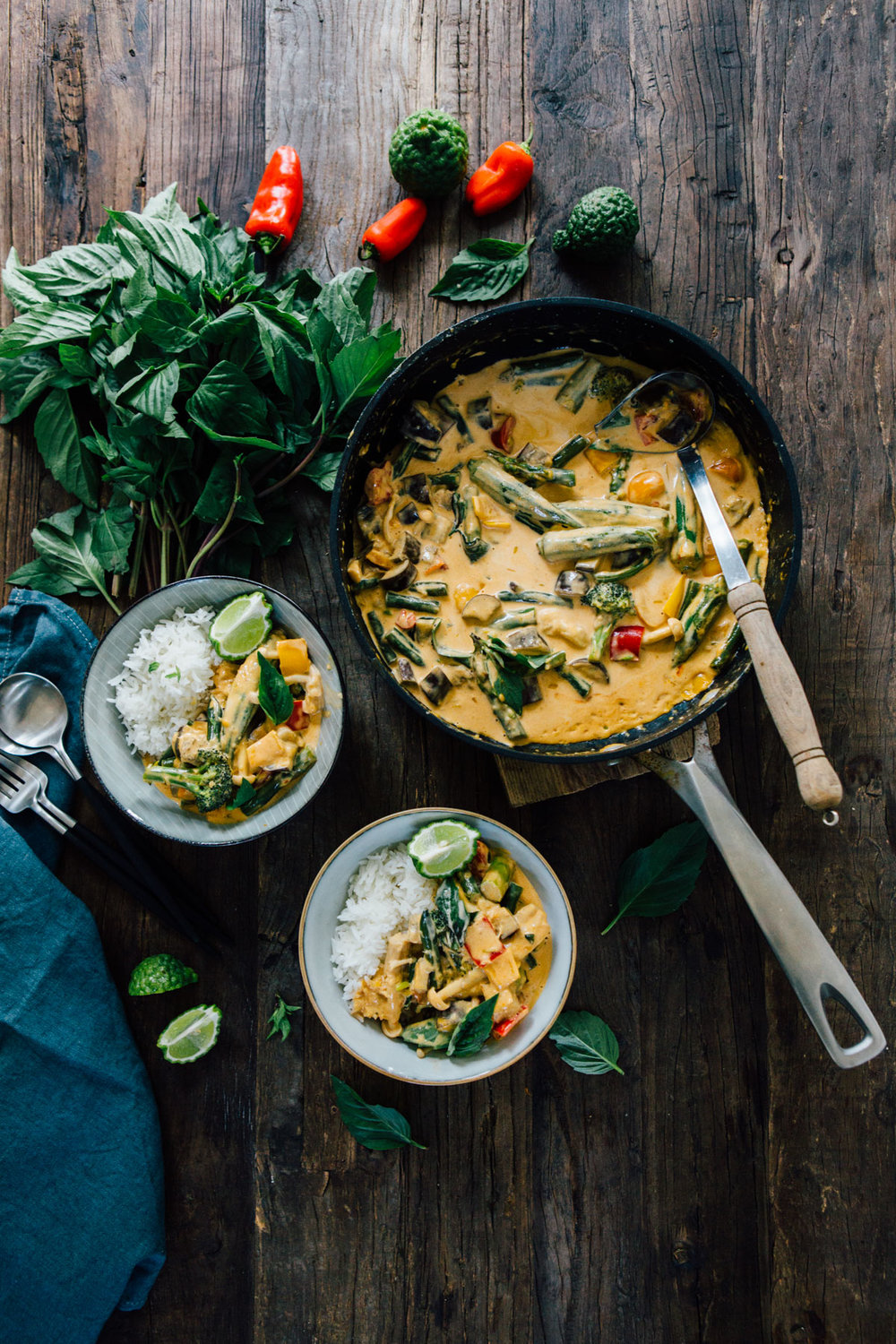 Red Thai Curry with Lemongrass, Garlic and Ginger Pesto - www.madelinelu.com