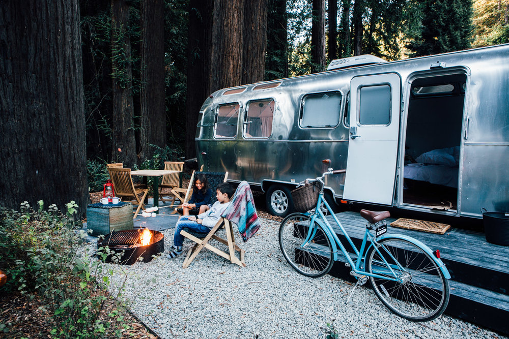 S' mores in the making, glamping at Autocamp, Russian River