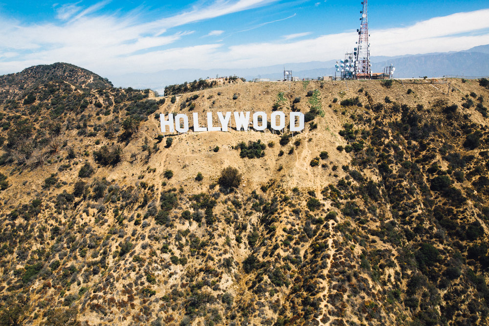 Hollywood Sign from Above, LA