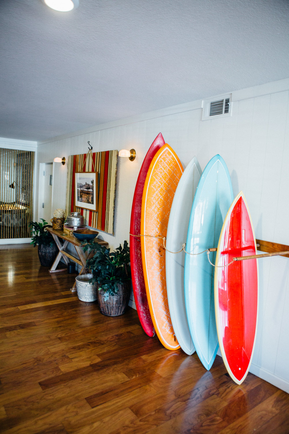 Surf boards of Laguna Beach House