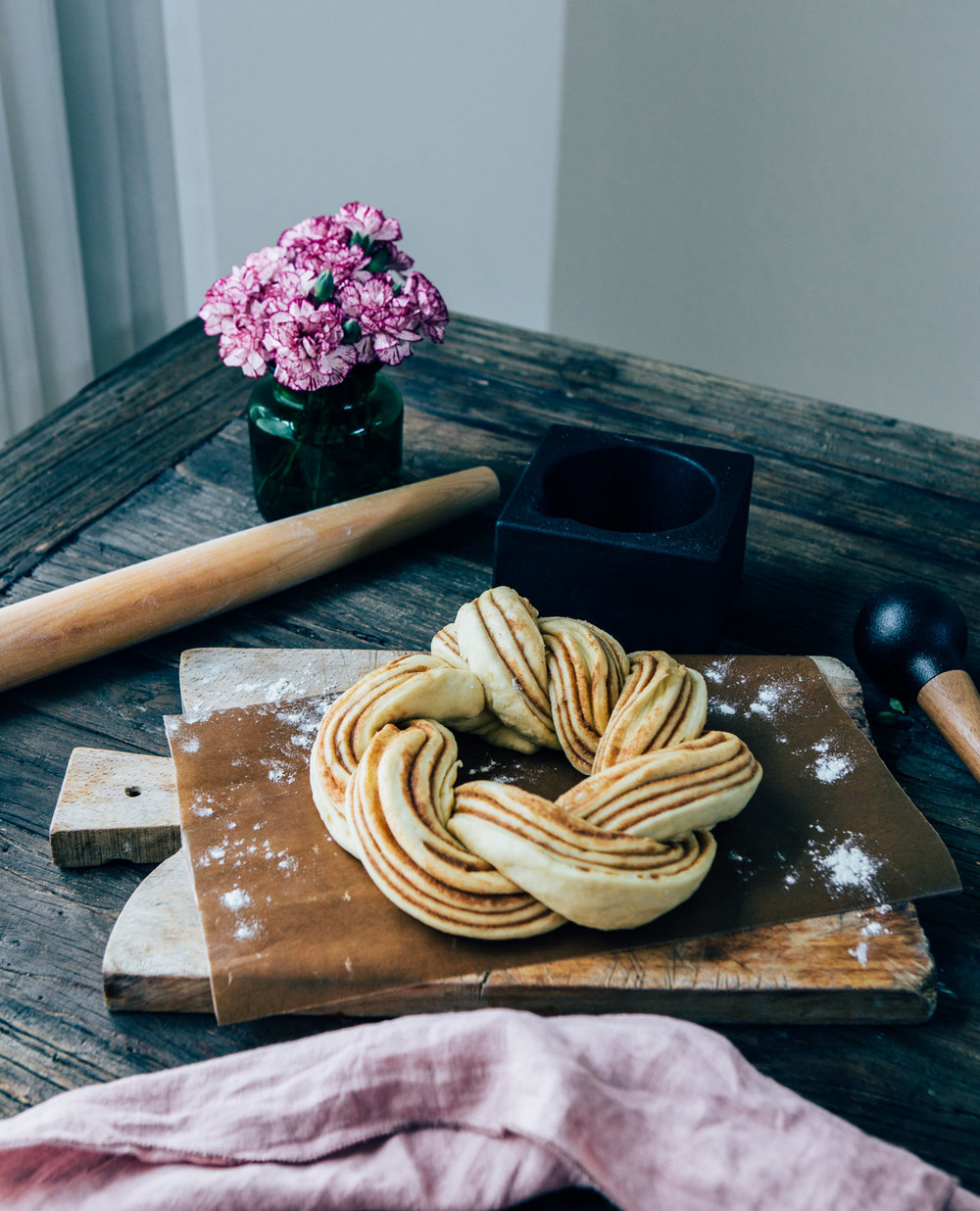 Cinnamon and Cardamom Wreath by Madeline Lu - @lumadeline