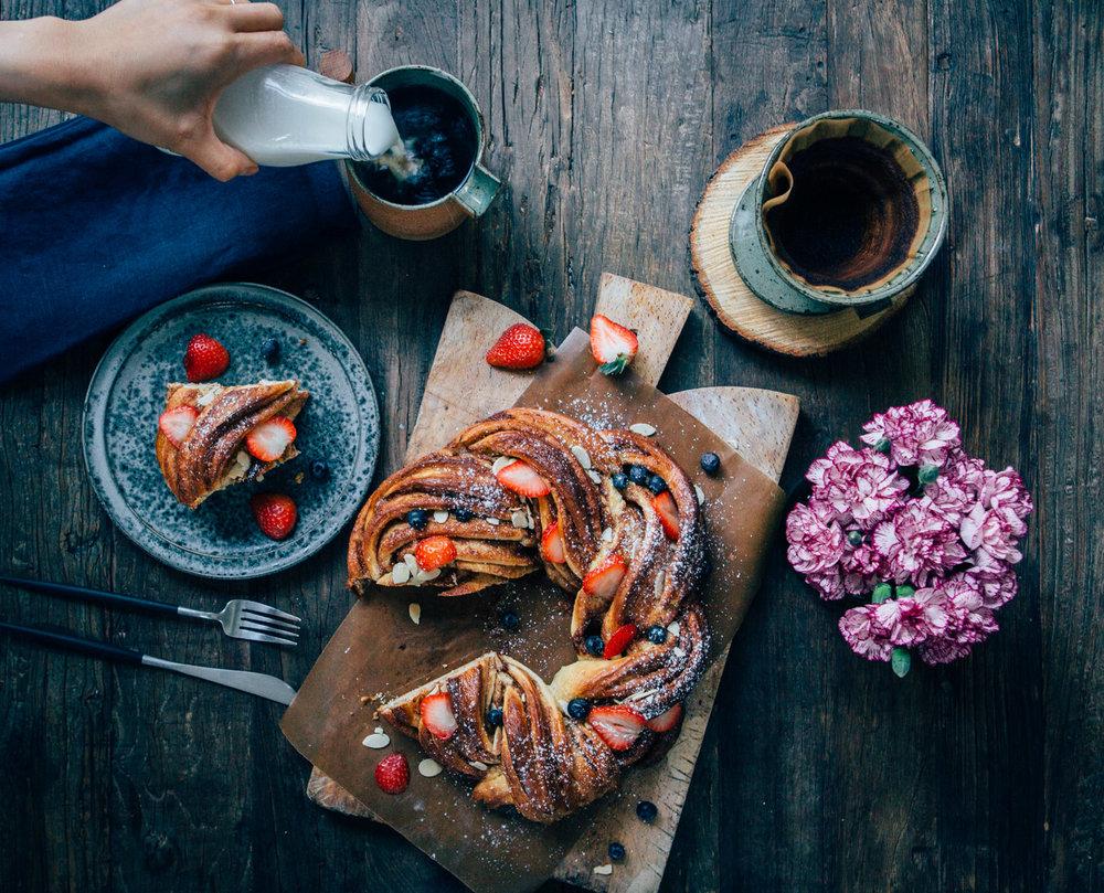 Cinnamon and Cardamom Wreath by Madeline Lu - @lumadeline