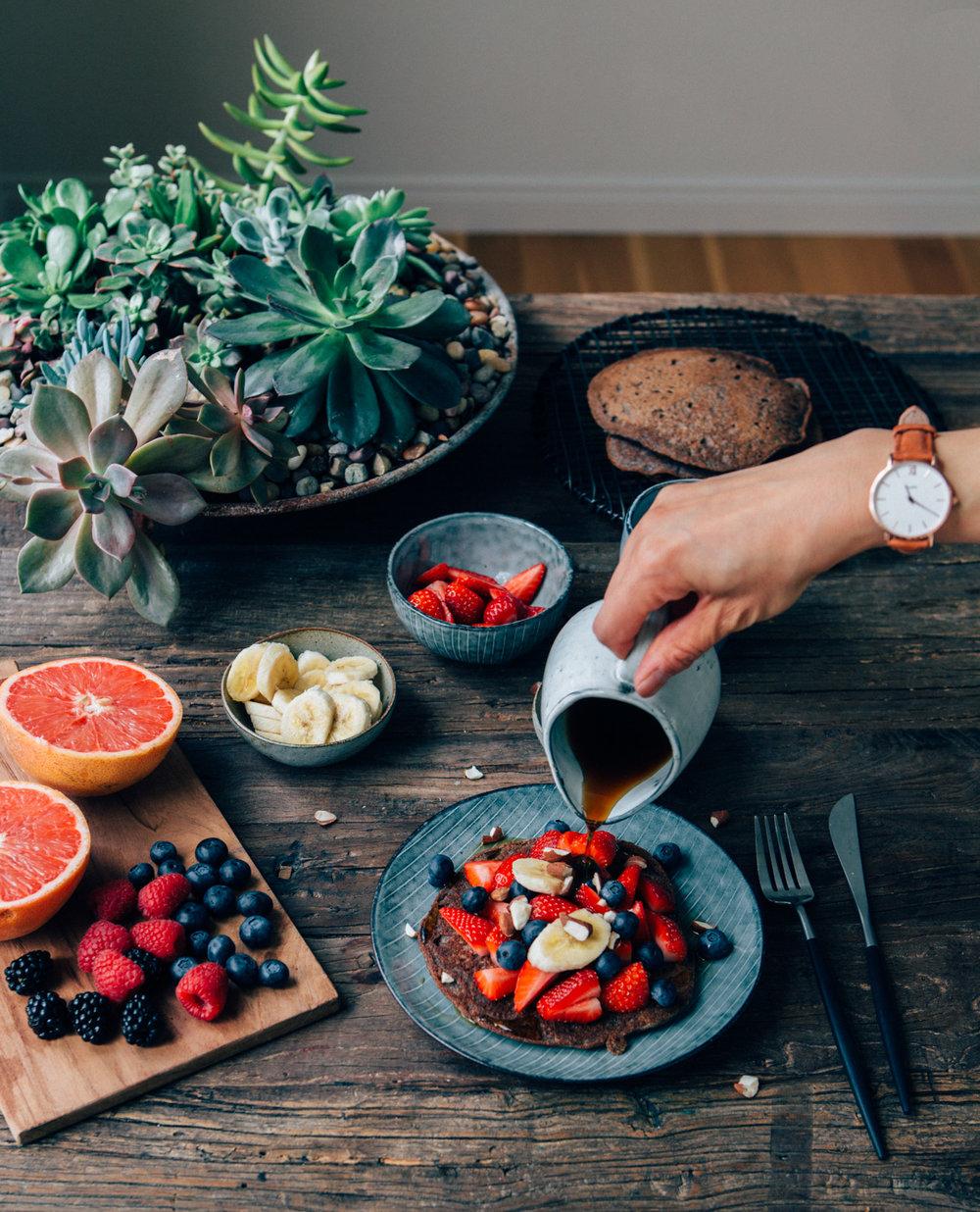 Vegan Gluten-free Buckwheat Hotcakes by @lumadeline