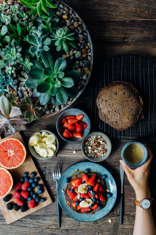 Vegan Gluten-free Buckwheat Hotcakes - by Madeline Lu @lumadeline