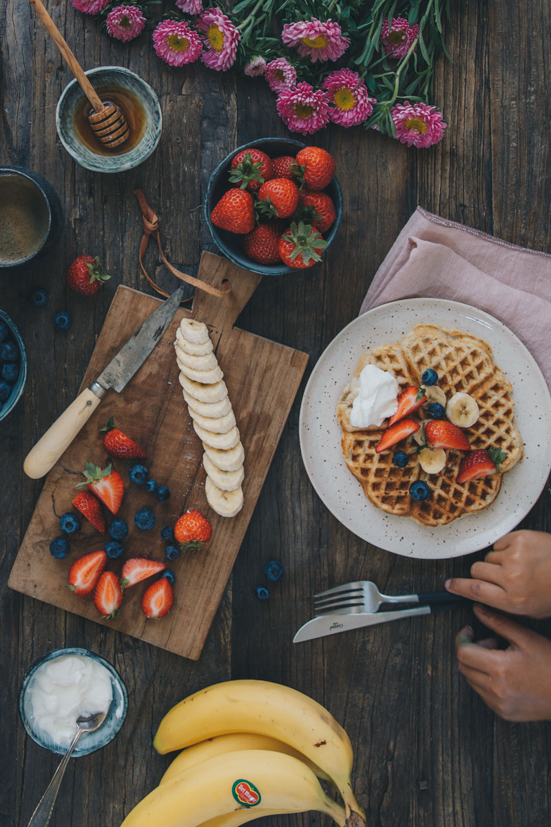 Banana Waffle with Del Monte Fresh - by Madeline Lu