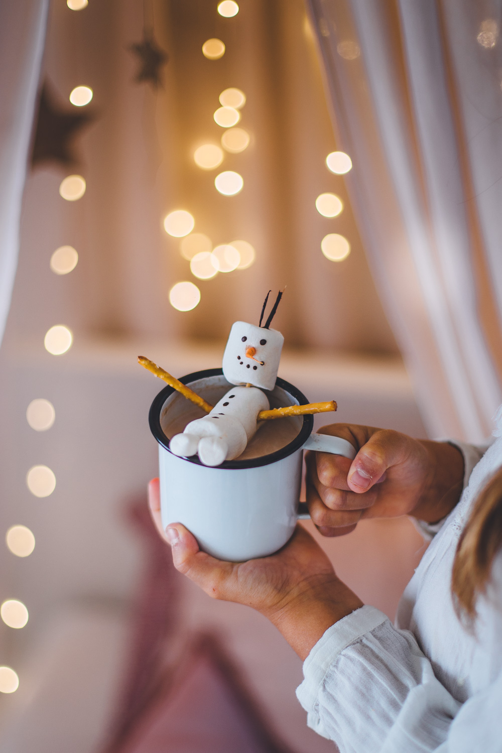 Snowman made with Vegan Marshmallows - by Madeline Lu