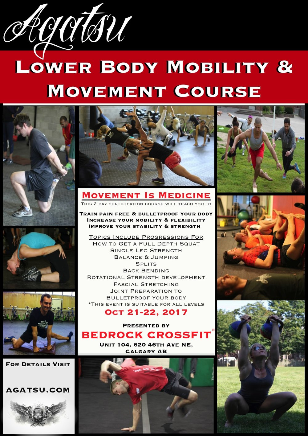 Agatsu Lower Body Mobility and Movement Course at Bedrock