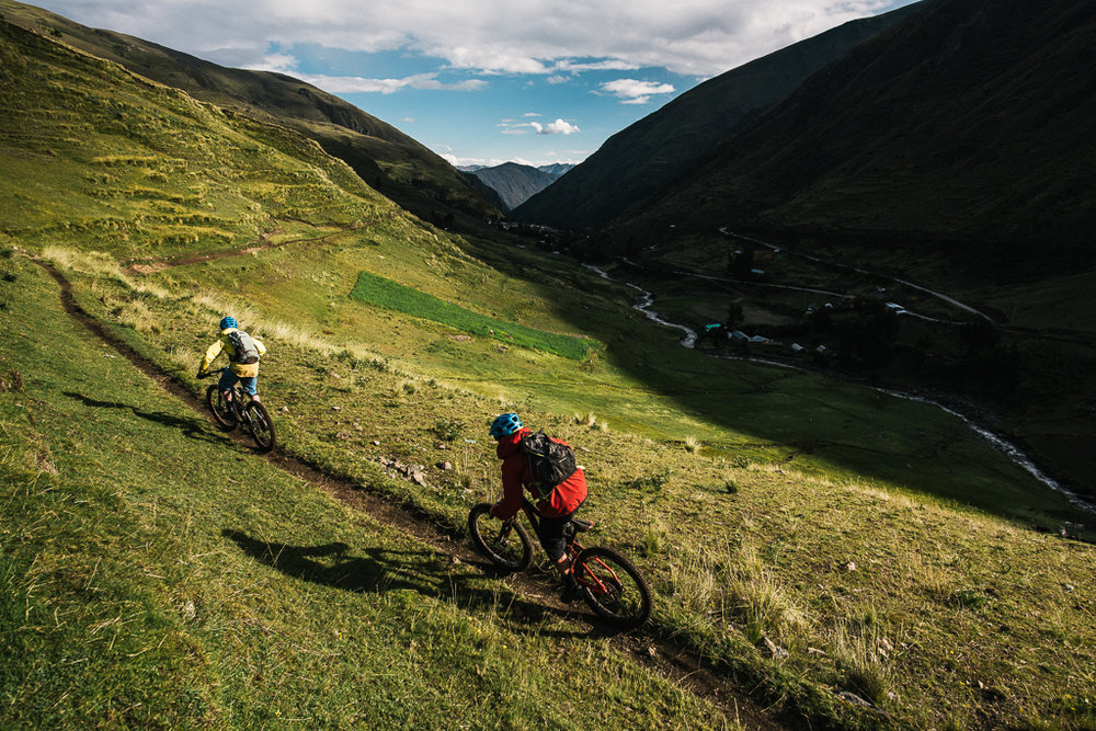KC Dean and Geoff Gulevich on a Mountain Bike Trip in Peru with Haku Expeditions.