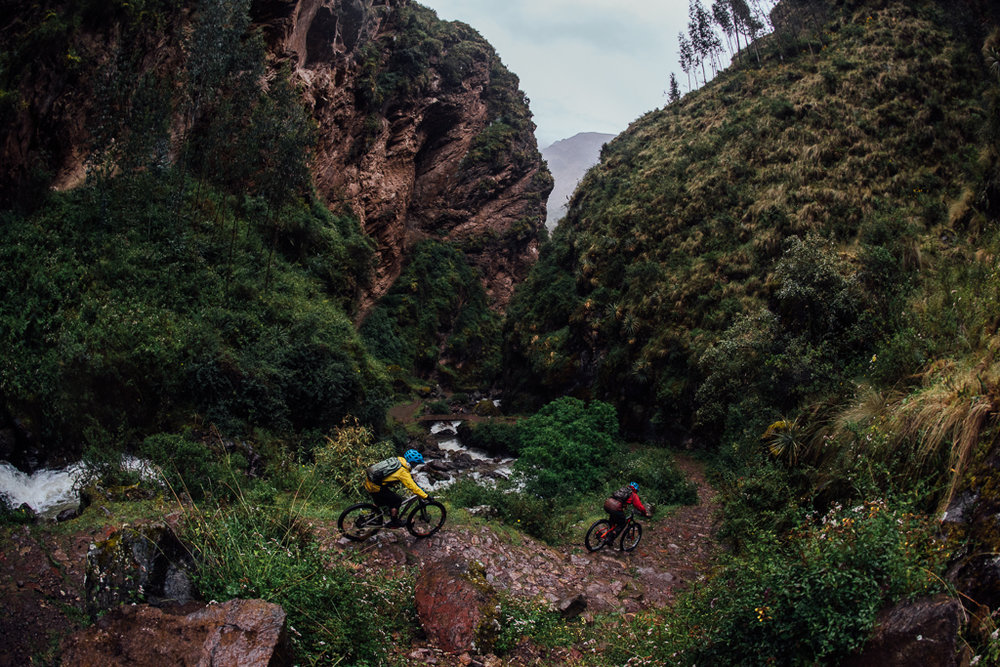 Inca Stair mountain biking in Lares Cusco Peru mark matthews and KC dean.jpg