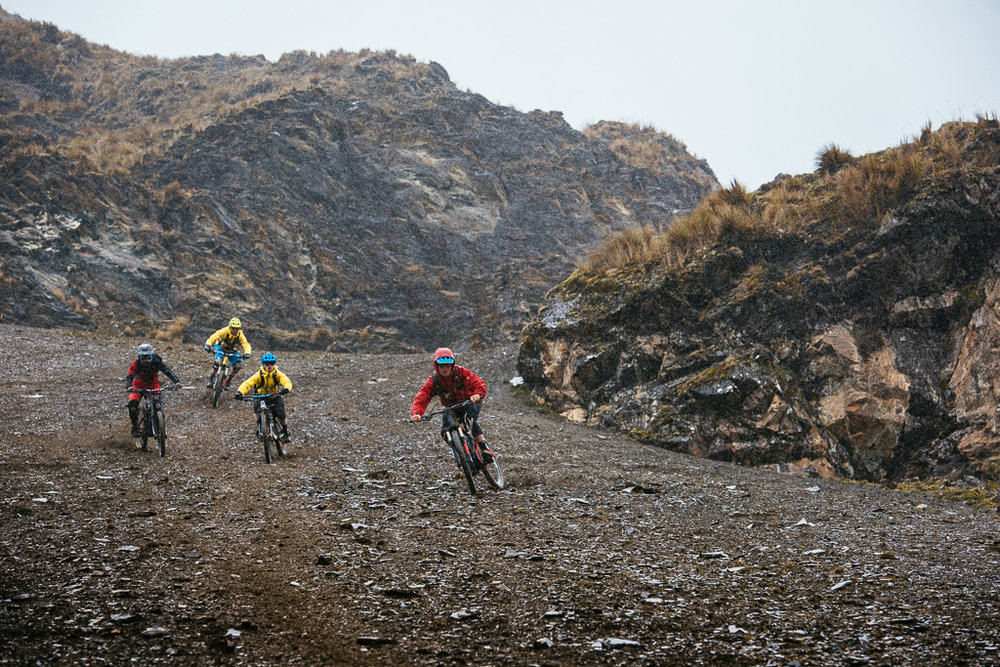 face shot on the lares scree field Mitch, KC, Mark, Geoff gulevich MTB peru.jpg