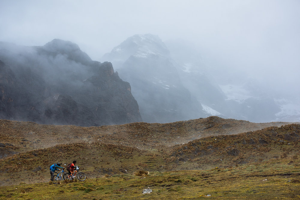Pushing to the Inca Avalanche start line. Awesome shot by  Margus Riga