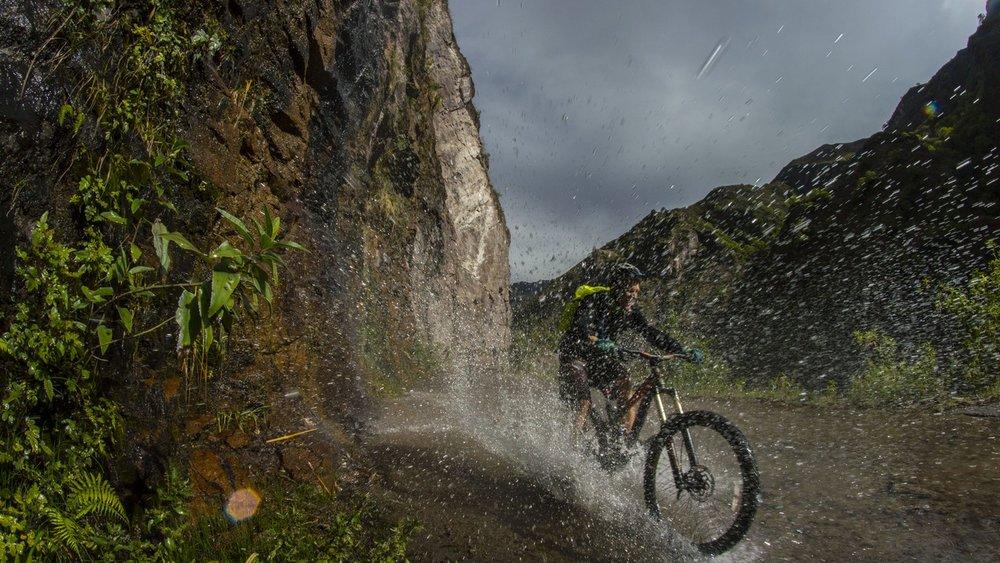 4 Inca Legends Mountain Bike Tour, Patrick Splashing Water.jpg