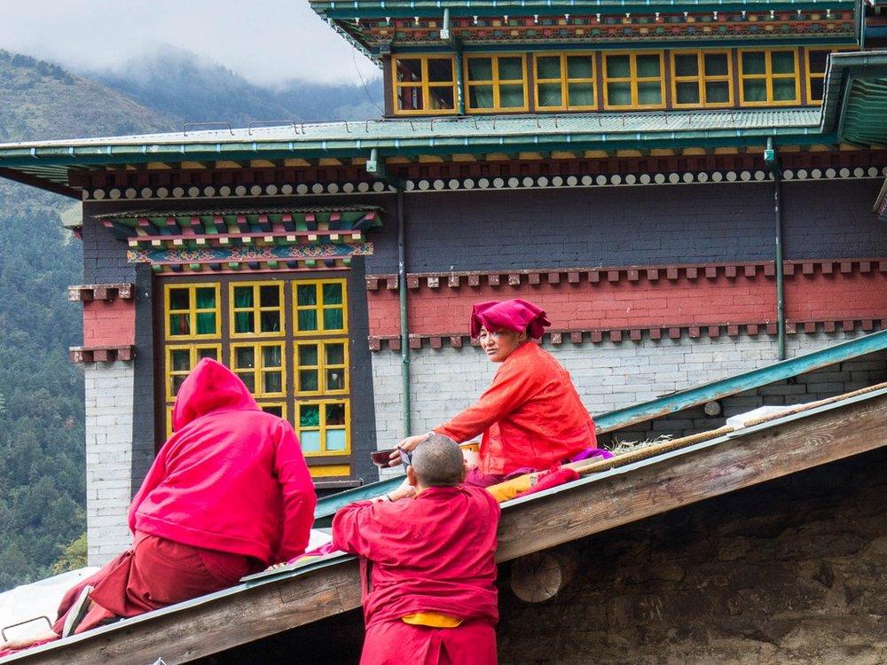 Nepal Mountain Bike Trip, Thuptenchoeling Nuns.jpg