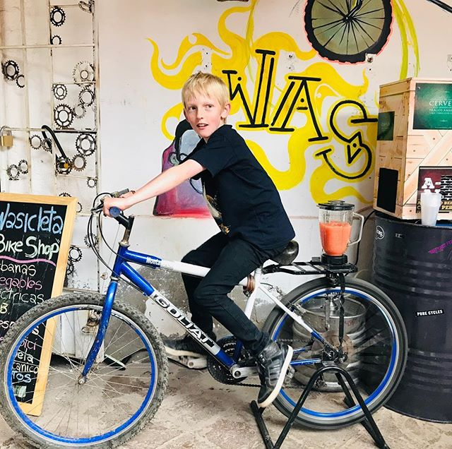 The bike blender! We have a new shop in Cusco called Wasicleta, they are promoting a bike movement in Cusco. We are super stoked to support them in any way possible. #bikeblender