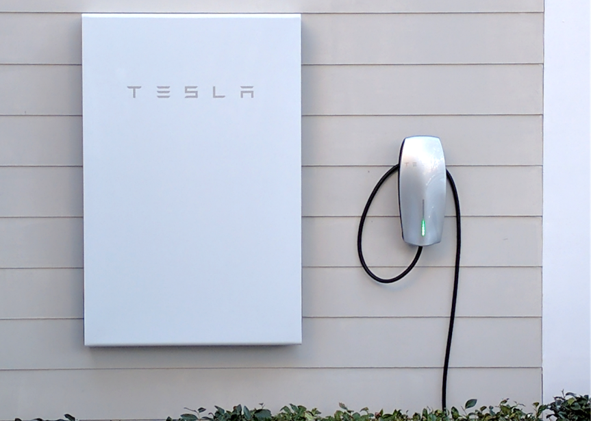 The Tesla Powerwall 2 - a home battery that can store energy captured by solar panels