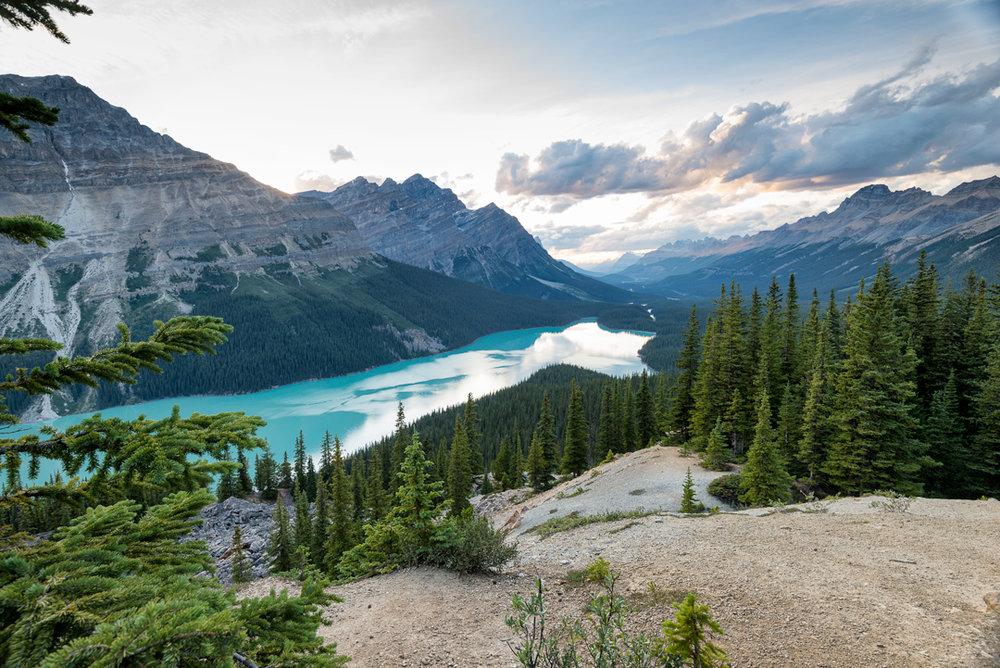 Peyto Lake at Sunset - Banff National Park, Alberta, Canada