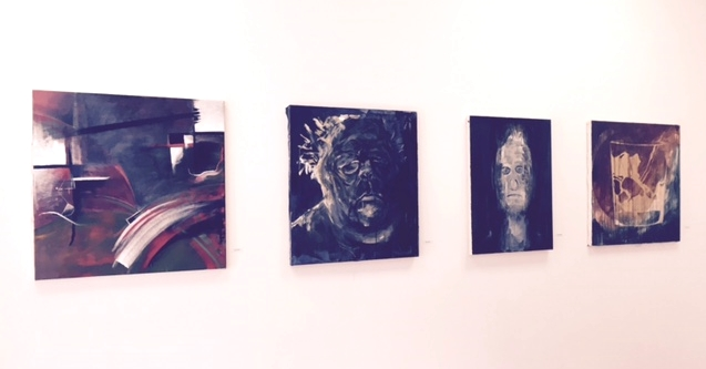 Works by (L to R) Annie Block, Abby Roeser, Neda McHugh and Sophie Trotto.