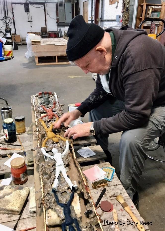 John N. Phillips at work.