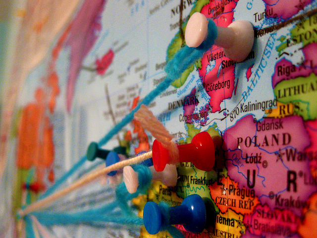 Pins on a Map -Flickr