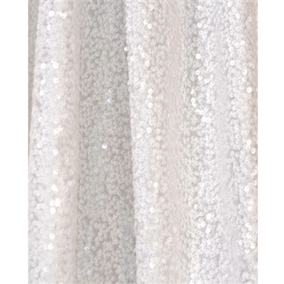 White Sequin Backdrop