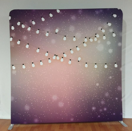 Pillow Case - Pink/Purple and Lights