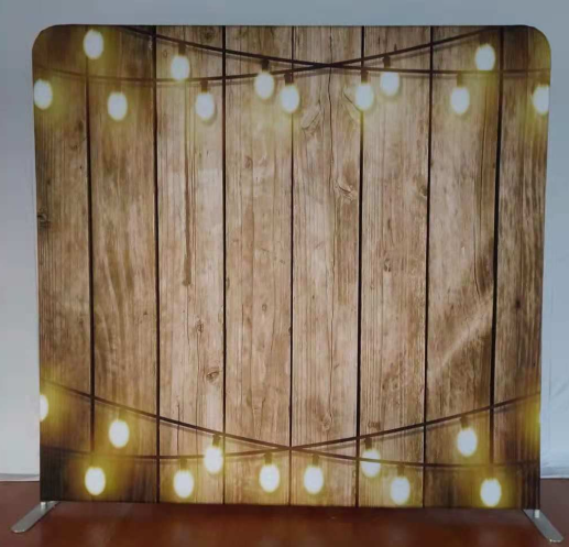 Pillow Case - Wooden with Lights