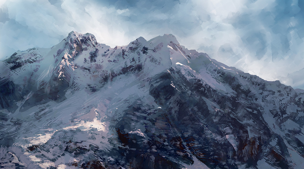 Artwork: Snowcapped Mountain on the Inca Trail