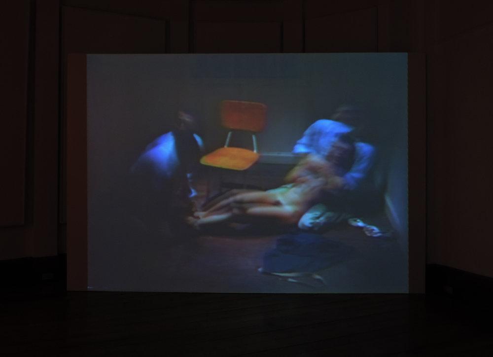 La premonición, Video loop. Miguel Regueyra. Installation View, Alianza Francesa, Costa Rica. 2017.