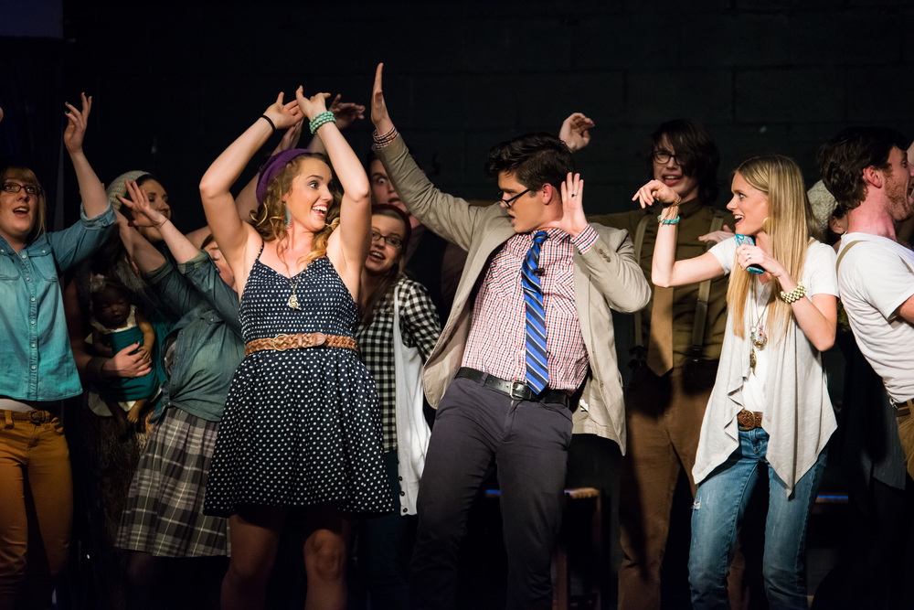 """It's Elementary"" closed ""A Night of One Acts"" with a bang! This original musical, written and directed by Gregg Garner, was performed with a live band. It was a blast!"