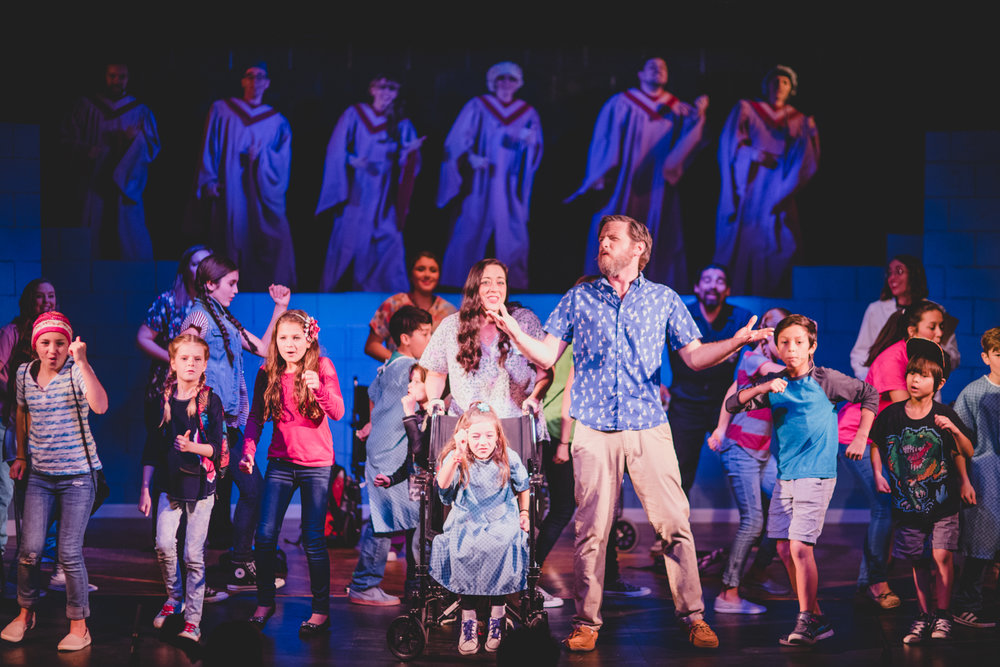BREATHE, A New Musical has a cast of 14 children, who bring a vibrant energy to the stage. Their youthful enthusiasm and joy give needed moments of comedy and rest amidst a story that is constantly compelling you to feel deeply.