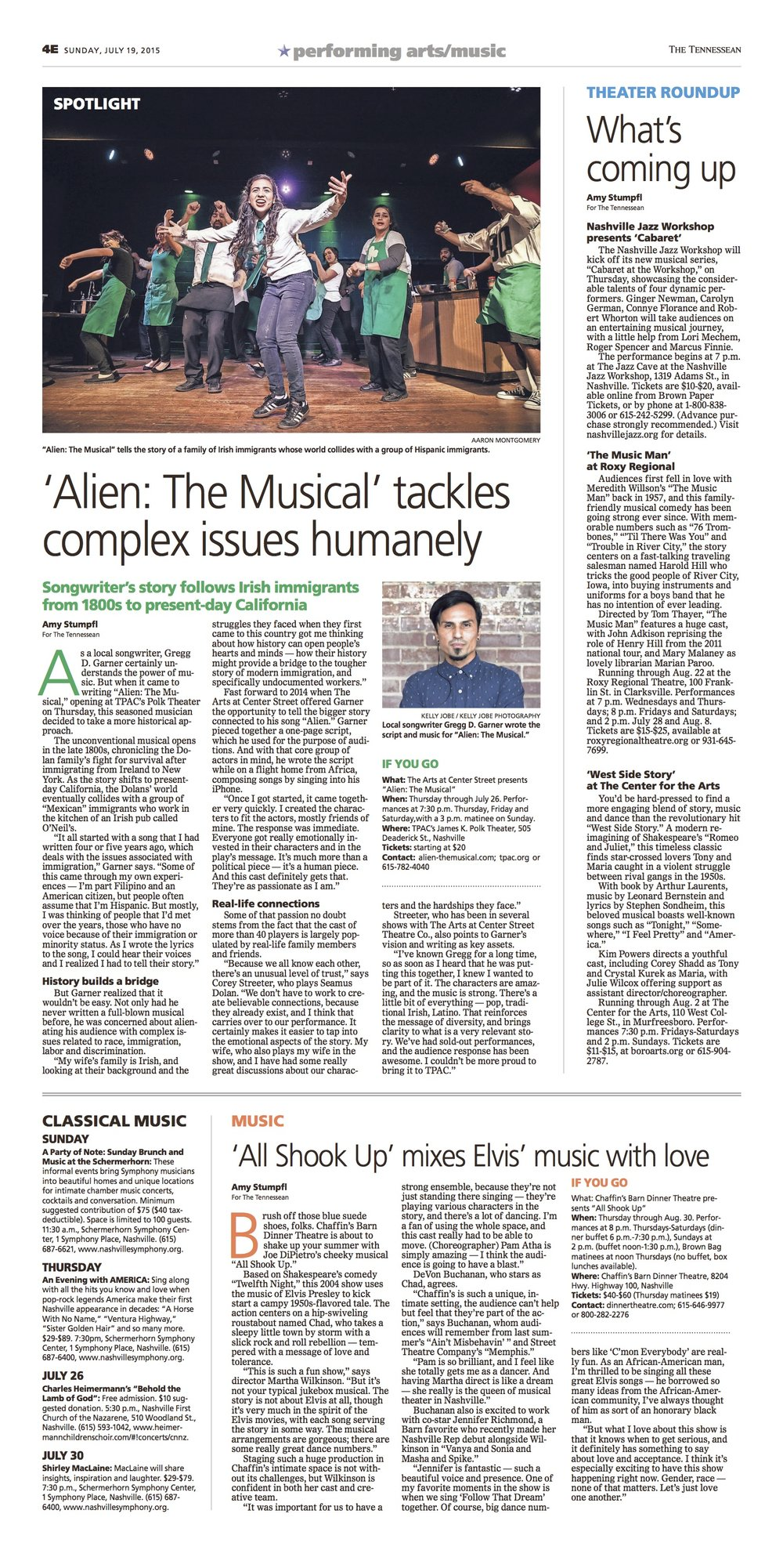 Amy Stumpfl enters into conversation with writer and director of ALIEN: The Musical, Gregg D. Garner, to get the inside scoop on the show, which opens at TPAC's Polk Theater in July 2015.