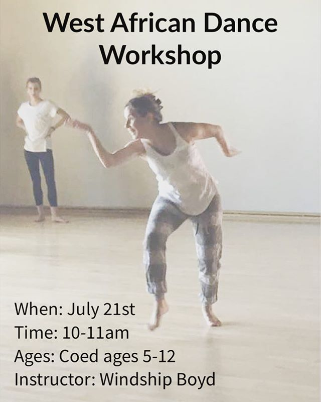 Coming to you this Saturday from the Center Street Dance Academy: a workshop in a West African Dance taught by guest artist Windship Boyd! See link in bio to register your kids! For those who have registered already, workshop details are coming to you this week! #theartsatcenterstreet #centerstreetdanceacademy #local #original #meaningful