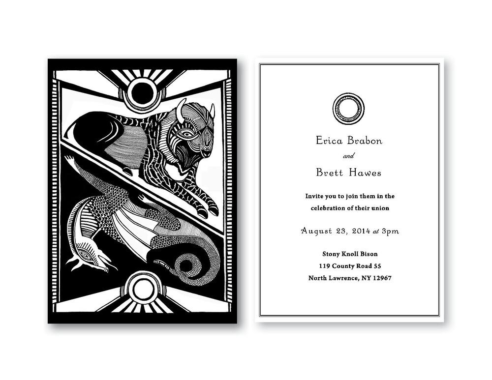 Erica and Brett Wedding Invite